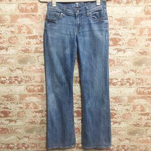 BOGO 7FAM Lexie Petite Bootcut Jeans Light Wash